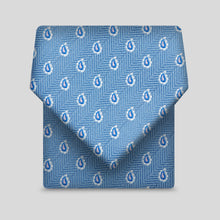 Load image into Gallery viewer, Airforce With White Edged Tear Drops Classic Tie