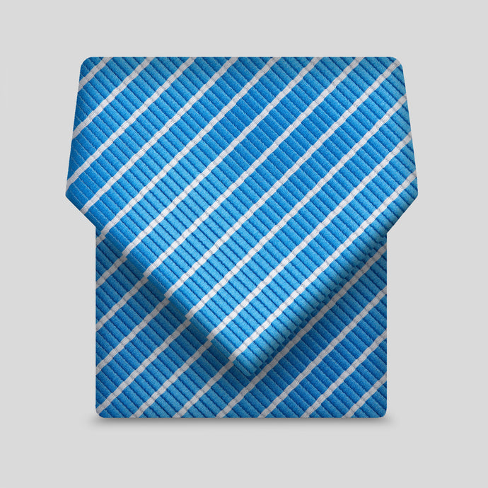 Royal Blue With Narrow Silver Stripe Classic Tie