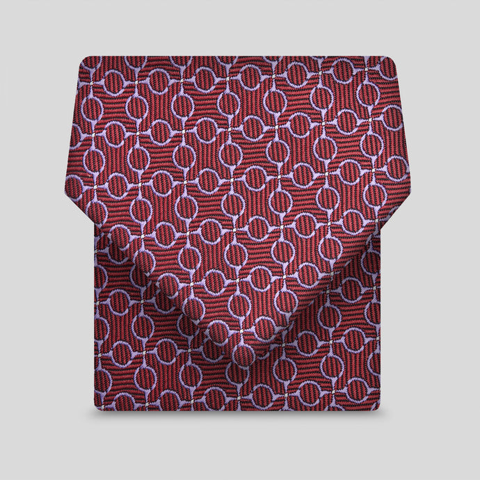 Burgundy And Lilac Geometric Pattern Classic Tie