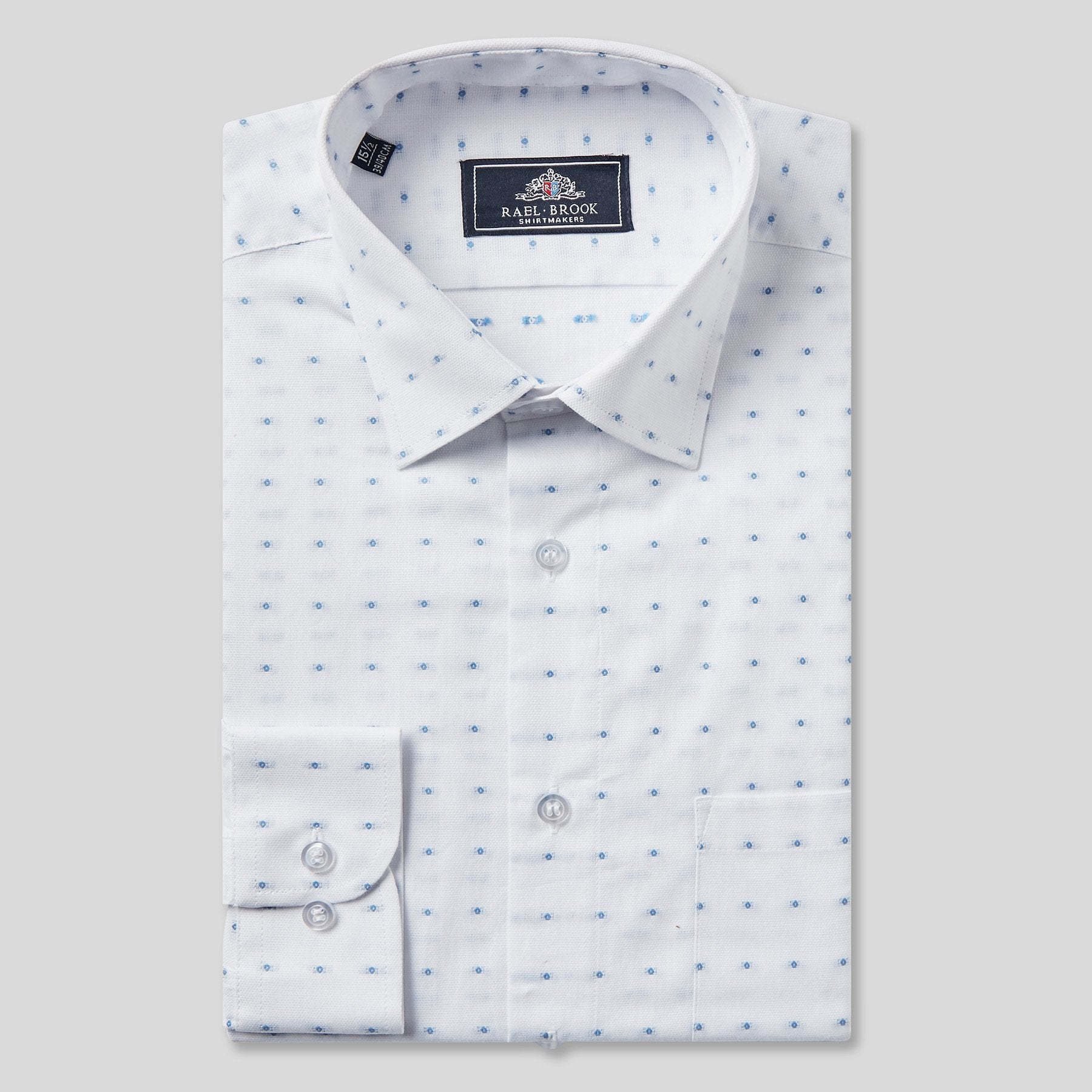4791-Rael-Brook-Classic-Fit-White-Dobby-Weave-Check-Single-Cuff-Shirt-1
