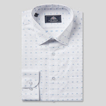 Load image into Gallery viewer, 4791-Rael-Brook-Classic-Fit-White-Dobby-Weave-Check-Single-Cuff-Shirt-1