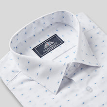 Load image into Gallery viewer, 4791-Rael-Brook-Classic-Fit-White-Dobby-Weave-Check-Single-Cuff-Shirt-2