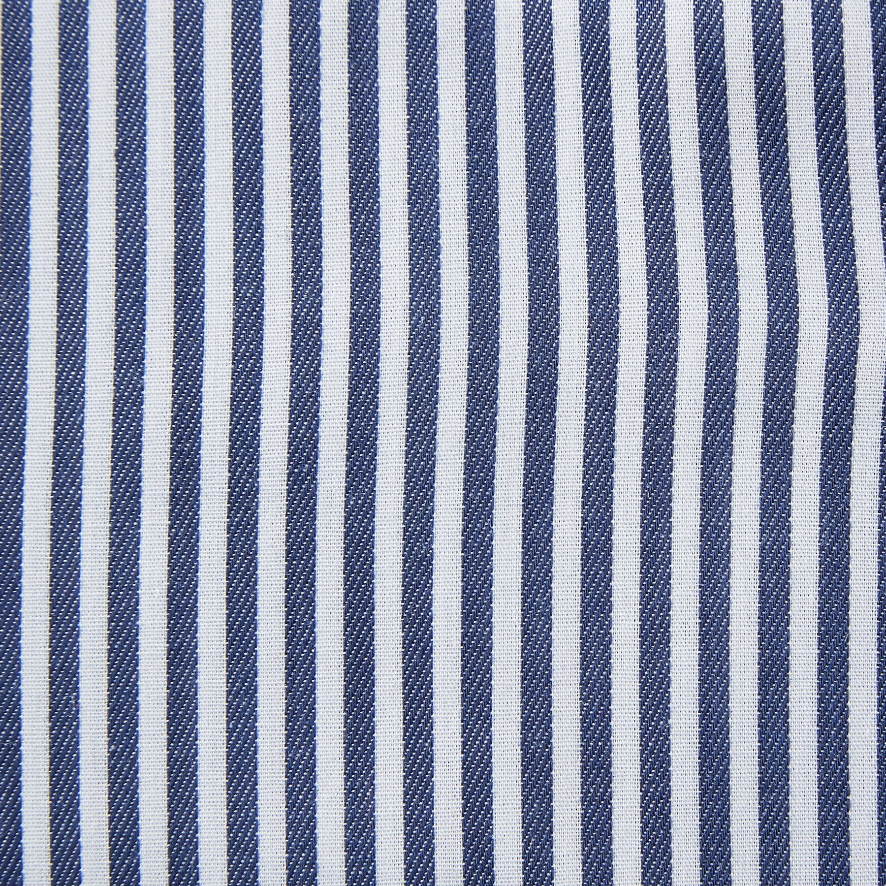Rael Brook Classic Fit Navy Dobby Stripe Single Cuff Shirt Fabric