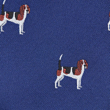 Load image into Gallery viewer, Royal Blue With Beadle Dog Pattern Classic Tie Fabric
