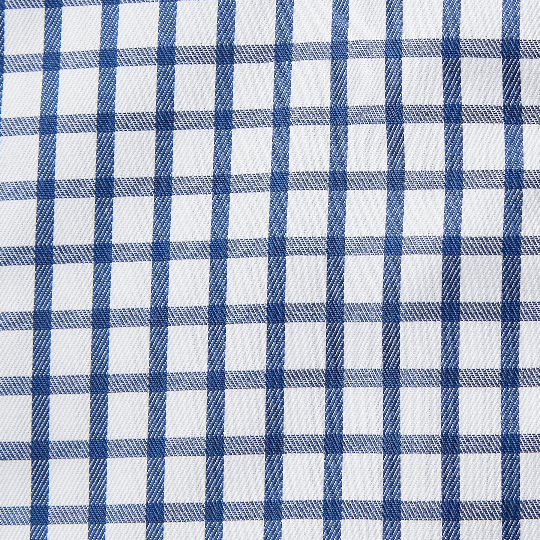 Rael Brook Classic Fit Navy Checkerboard Single Cuff Shirt Fabric