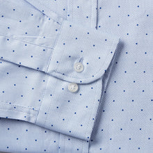 Load image into Gallery viewer, 4851-Rael-Brook-Tailored-Fit-Blue-Polka-Dot-Single-Cuff-Shirt-3