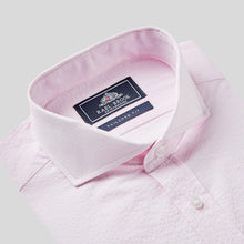 Load image into Gallery viewer, 4861-Rael-Brook-Tailored-Fit-Pink-Seersucker-Stripe-Single-Cuff-Shirt-2