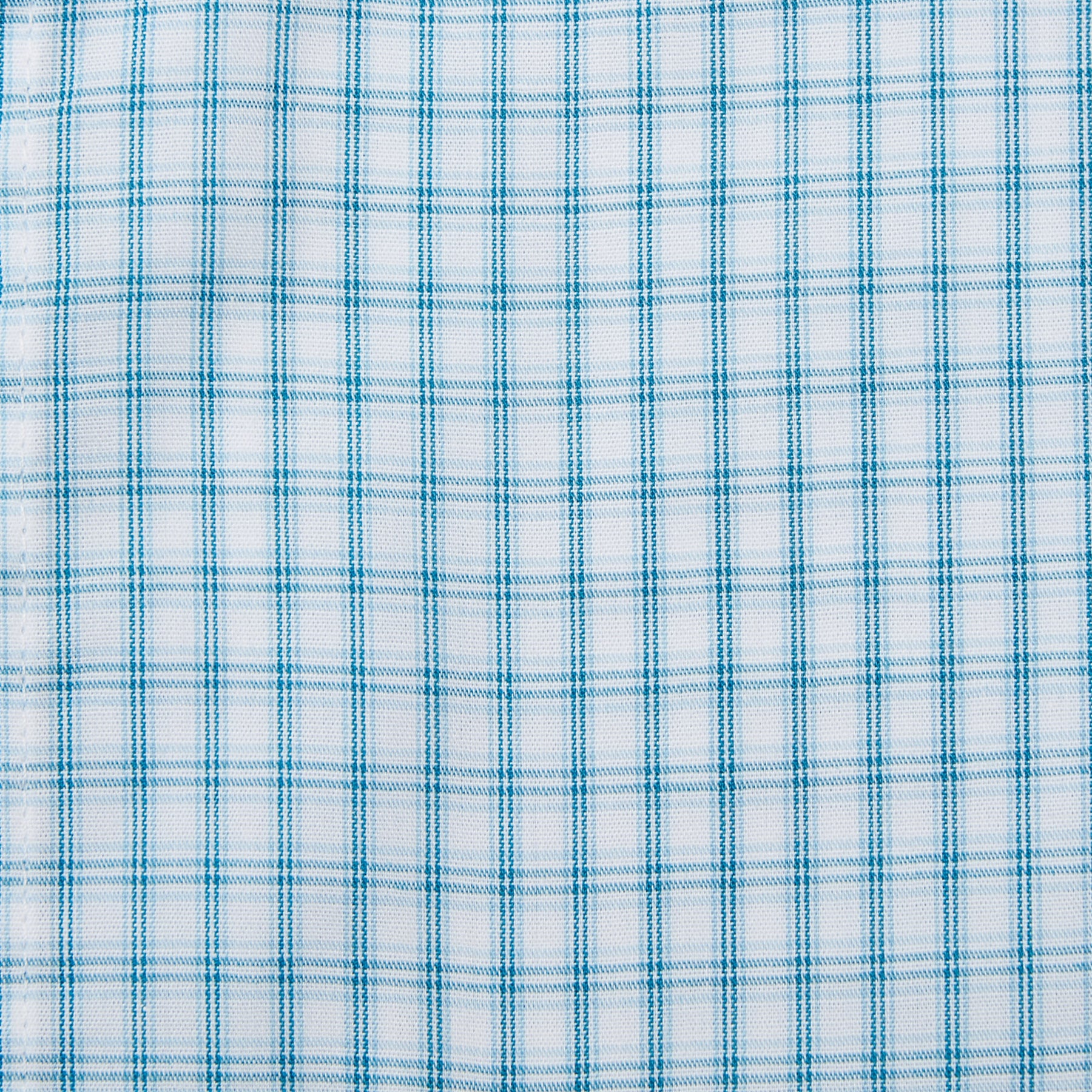 Rael Brook Classic Fit Short Sleeve Blue Box Check Shirt Fabric