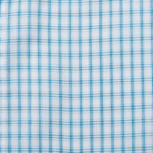 Load image into Gallery viewer, Rael Brook Classic Fit Short Sleeve Blue Box Check Shirt Fabric