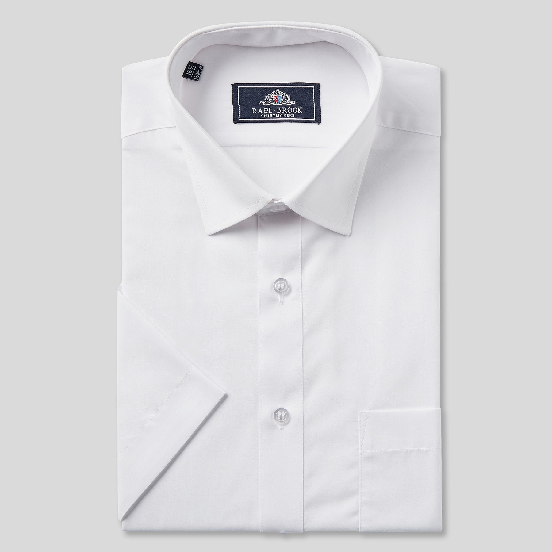 Rael Brook Classic Fit White Short Sleeve Shirt