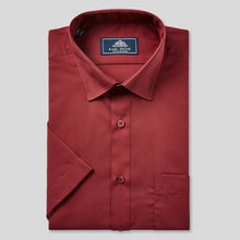 Load image into Gallery viewer, 78020-Rael-Brook-Classic-Fit-Wine-Short-Sleeve-Shirt-1