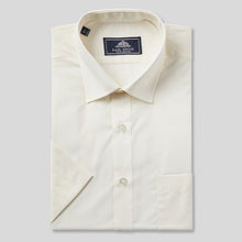 Load image into Gallery viewer, Rael Brook Classic Fit Ecru Short Sleeve Shirt
