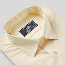 Load image into Gallery viewer, Rael Brook Classic Fit Lemon Short Sleeve Shirt Collar