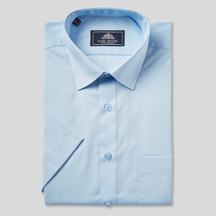 Rael Brook Classic Fit Sky Blue Short Sleeve Shirt