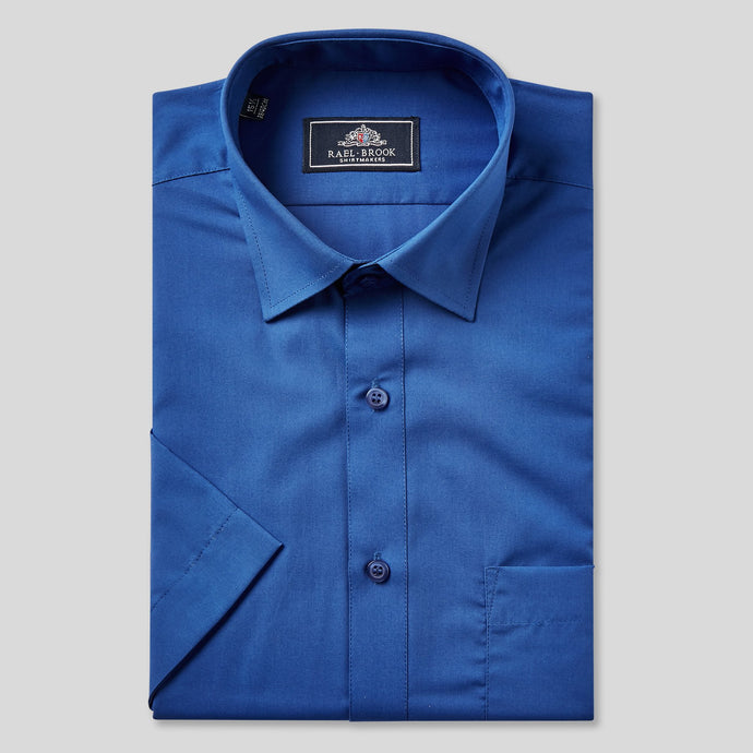 Rael Brook Classic Fit Royal Short Sleeve Shirt