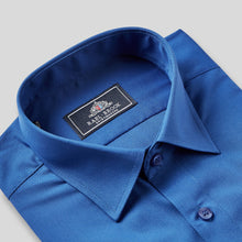Load image into Gallery viewer, Rael Brook Classic Fit Royal Short Sleeve Shirt Collar