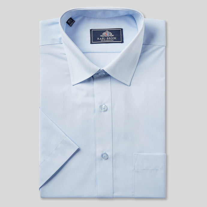 Rael Brook Classic Fit Light Blue Short Sleeve Shirt