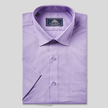 Load image into Gallery viewer, 78070-Rael-Brook-Classic-Fit-Purple-Short-Sleeve-Shirt-1