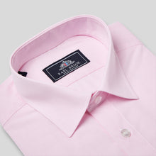 Load image into Gallery viewer, Rael Brook Classic Fit Short Sleeve Pink Pinstripe Shirt Collar