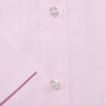Load image into Gallery viewer, Rael Brook Classic Fit Short Sleeve Pink Pinstripe Shirt Cuff