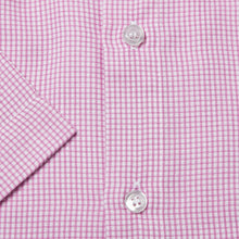 Load image into Gallery viewer, Rael Brook Classic Fit Short Sleeve Pink Micro Check Shirt Cuff