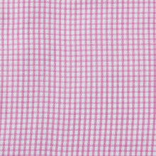 Load image into Gallery viewer, Rael Brook Classic Fit Short Sleeve Pink Micro Check Shirt Fabric