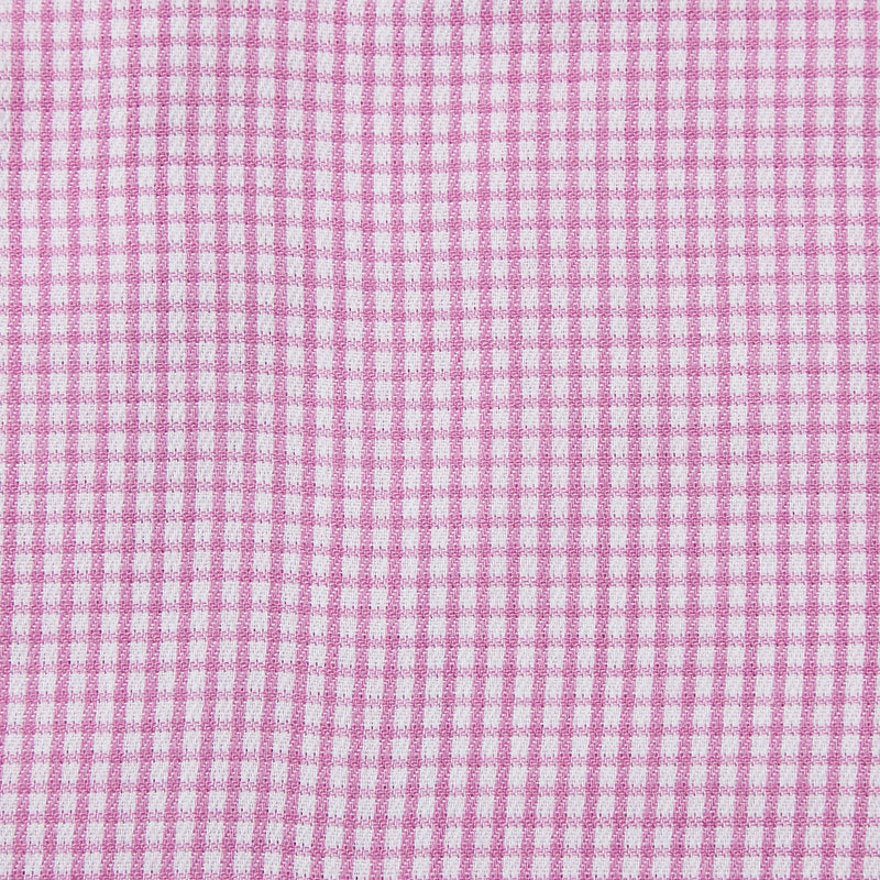 Rael Brook Classic Fit Short Sleeve Pink Micro Check Shirt Fabric