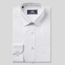 Load image into Gallery viewer, Rael Brook Classic Fit White Single Cuff Shirt