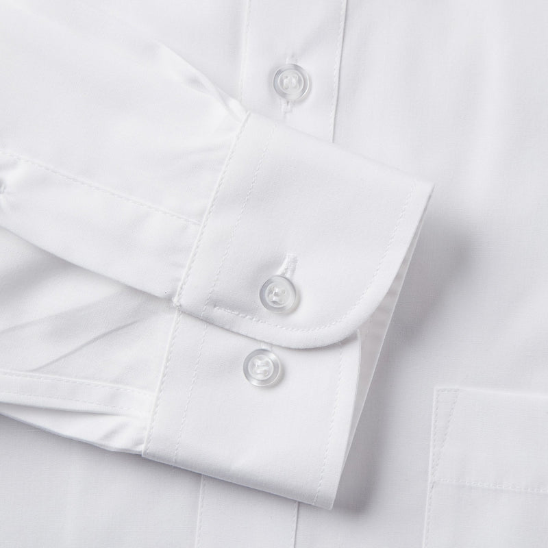 Rael Brook Classic Fit White Single Cuff Shirt Cuff