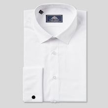 Load image into Gallery viewer, Rael Brook Classic Fit White Double Cuff Shirt