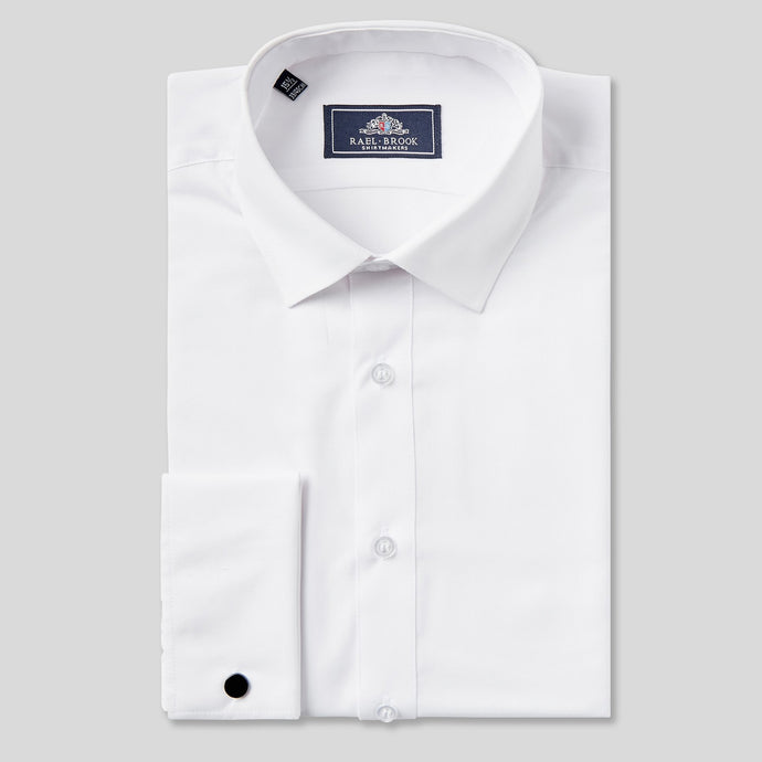 Rael Brook Classic Fit White Double Cuff Shirt