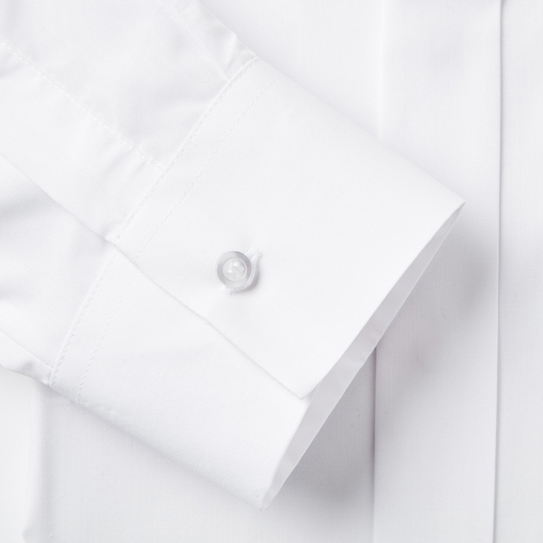 Rael Brook Classic Fit White Fly Front Dress Shirt Fabric