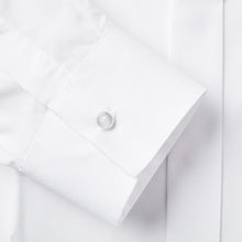 Load image into Gallery viewer, Rael Brook Classic Fit White Fly Front Dress Shirt Fabric