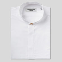 Load image into Gallery viewer, Rael Brook Classic Fit White Fly Front Mandarin Collar Dress Shirt