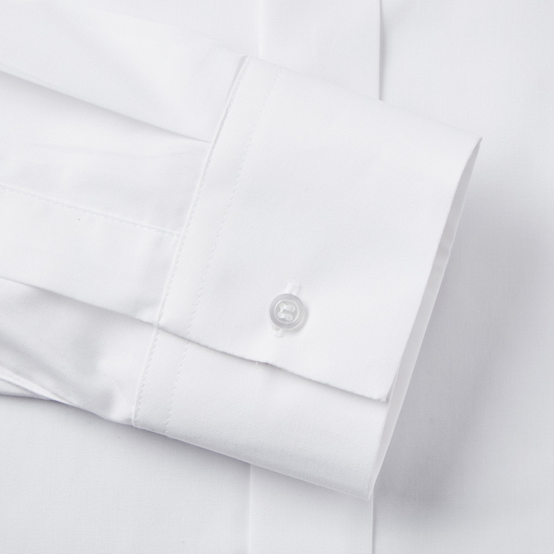 Rael Brook Classic Fit White Fly Front Mandarin Collar Dress Shirt Cuff