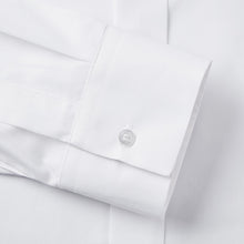 Load image into Gallery viewer, Rael Brook Classic Fit White Fly Front Mandarin Collar Dress Shirt Cuff