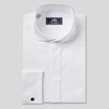Load image into Gallery viewer, Rael Brook Classic Fit White Swept Wing Double Cuff Dress Shirt