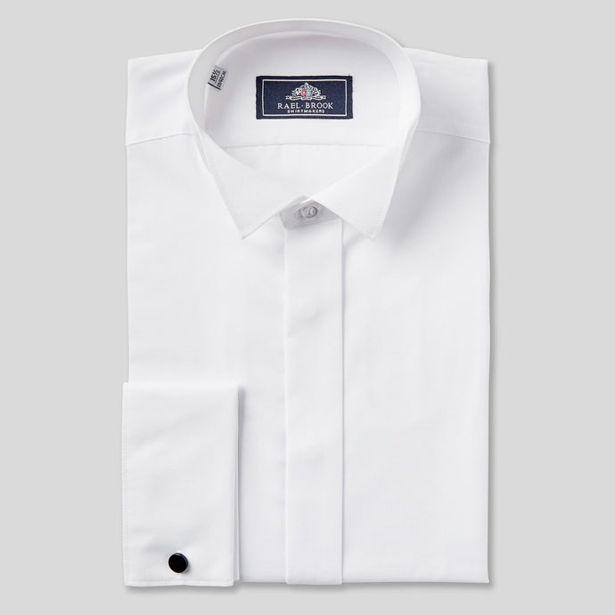 Rael Brook Classic Fit White Wing Collar Double Cuff Dress Shirt