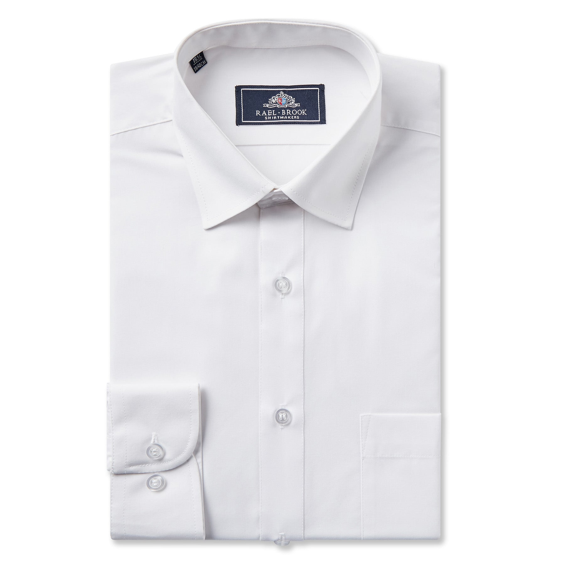 Rael Brook Classic Fit White Short Sleeve Shirt With Tie