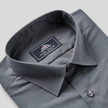 Load image into Gallery viewer, 8015-Rael-Brook-Classic-Fit-Charcoal-Single-Cuff-Shirt-2