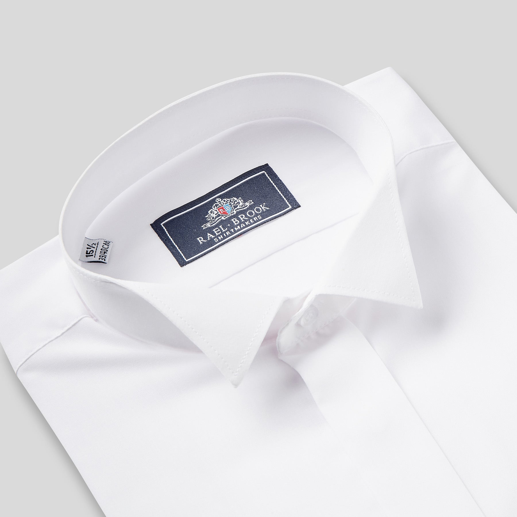 Rael Brook Classic Fit White Extra Long Sleeve Wing Collar Dress Shirt Collar