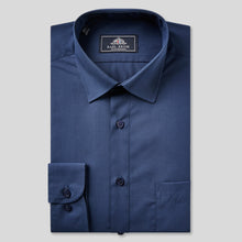 Load image into Gallery viewer, 8019-Rael-Brook-Classic-Fit-Navy-Single-Cuff-Shirt-1
