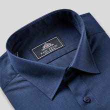 Load image into Gallery viewer, 8019-Rael-Brook-Classic-Fit-Navy-Single-Cuff-Shirt-2