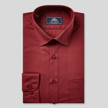 Load image into Gallery viewer, Rael Brook Classic Fit Wine Single Cuff Shirt