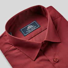Load image into Gallery viewer, Rael Brook Classic Fit Wine Single Cuff Shirt Collar