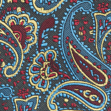 Load image into Gallery viewer, Dark Multi Paisley Classic Tie Fabric