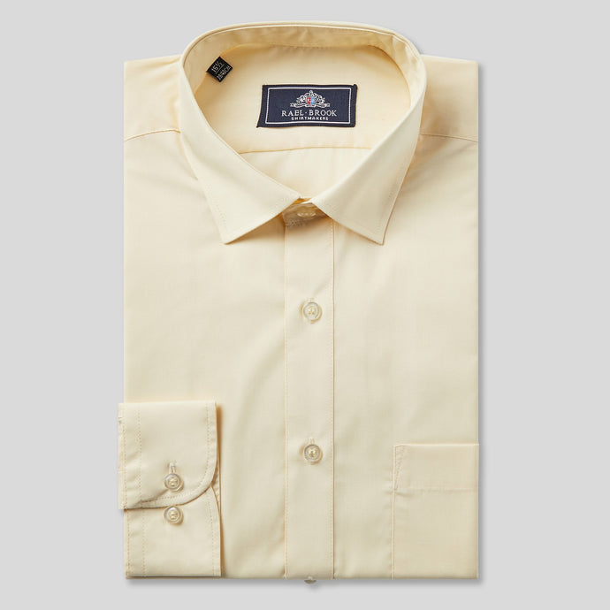 Rael Brook Classic Fit Lemon Single Cuff Shirt
