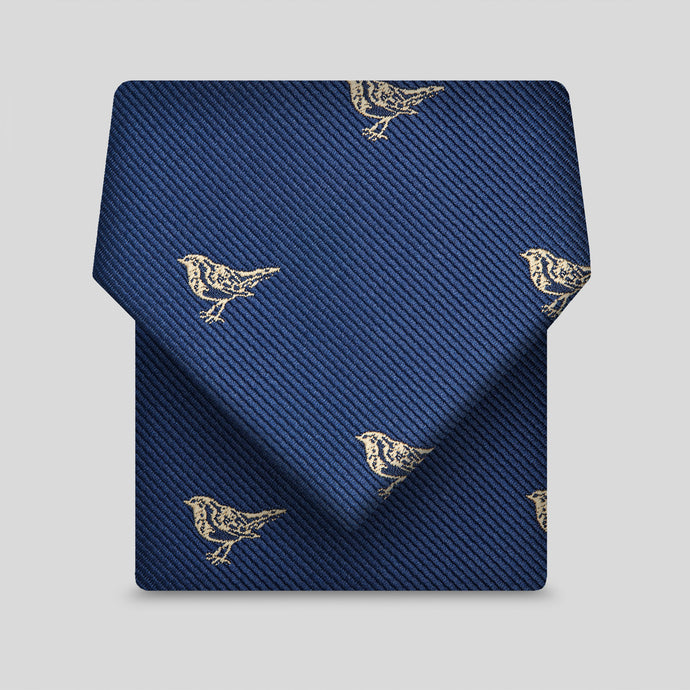 Navy With Yellow Birds Classic Tie