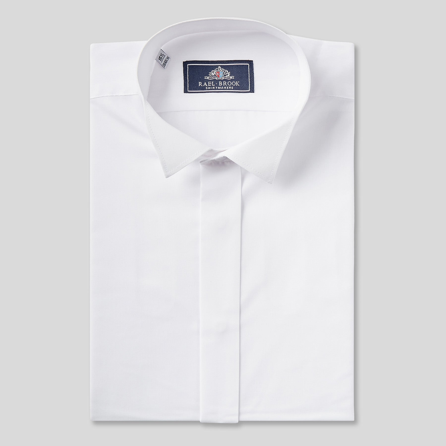 Rael Brook Classic Fit White Extra Long Sleeve Wing Collar Dress Shirt