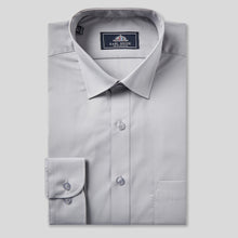 Load image into Gallery viewer, Rael Brook Classic Fit Grey Single Cuff Shirt